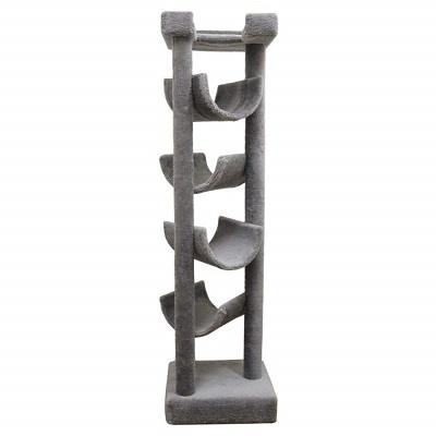 cat_climbing_structures_best_cat_trees_for_maine_coons_new_cat_condos_premier_solid_wood_6_six_foot_skyscraper_cat_tree_beige