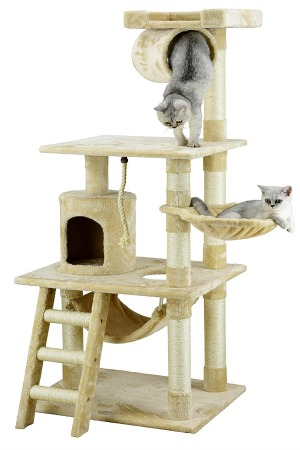 cat_climbing_structures_best_cat_trees_for_kittens_go_pet_club_62_inch_cat_tree_condo_beige_
