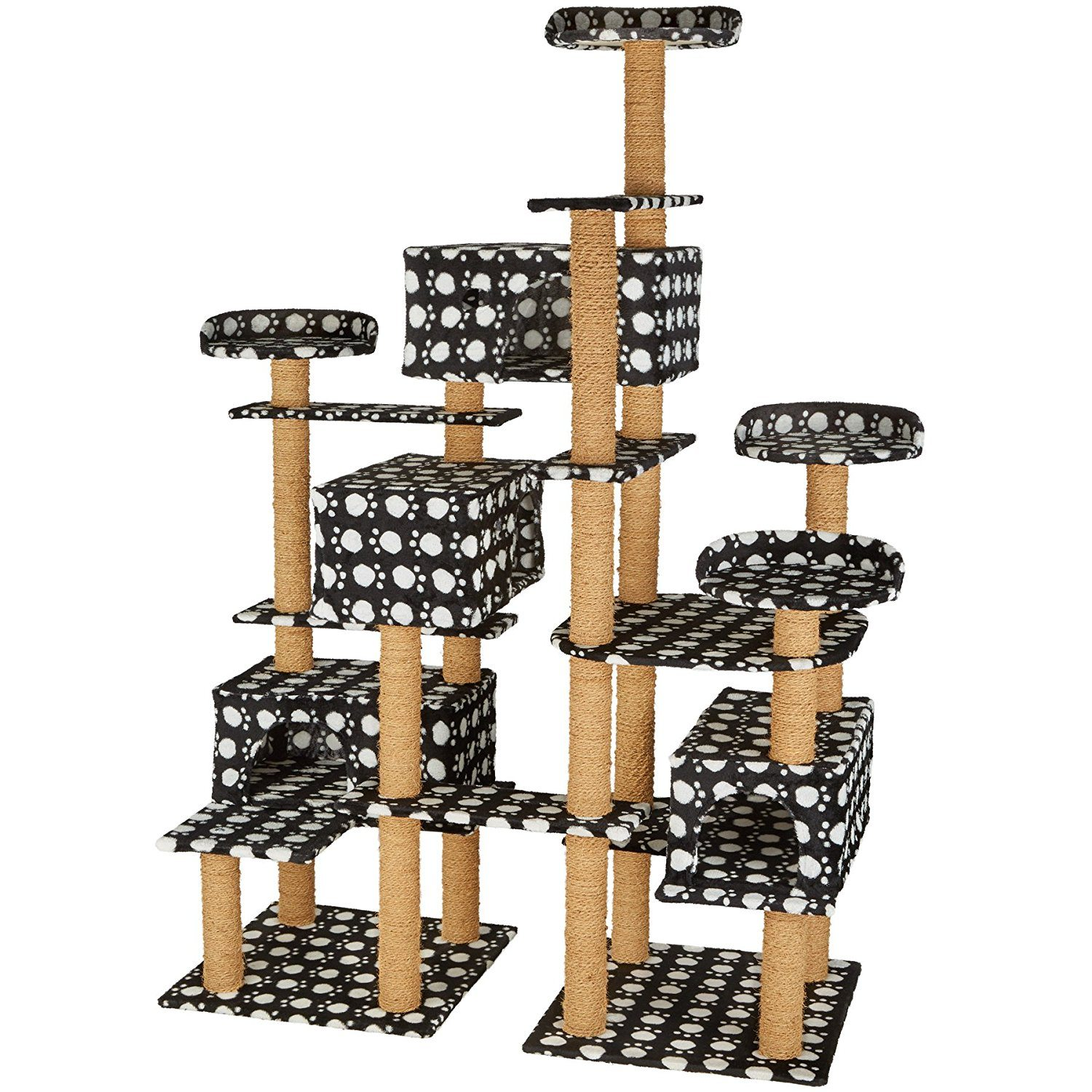 cat_climbing_structures_TecTake_XXL_cat_tree_with_scratching_post_activity_center_214_cm