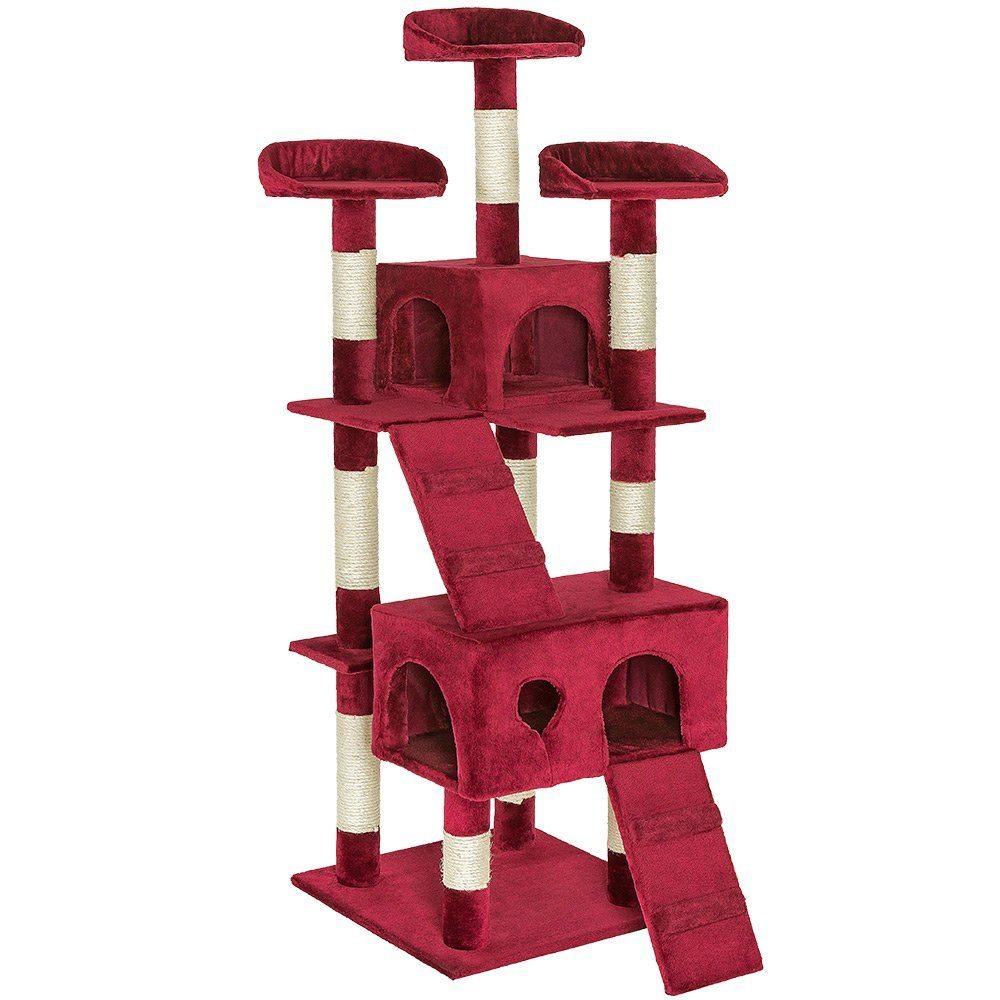 cat_climbing_structures_TecTake_cat_scratcher_activity_cat_tree_scratching_post_medium_sized