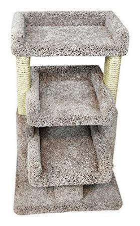 cat_climbing_structures_best_cat_trees_multiple_cats_prestige_cat_trees_beige_solid_wood_large_triple_cat_perch